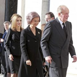 Los Reyes y la Princesa Letizia en la misa homenaje en el 10 aniversario del 11M