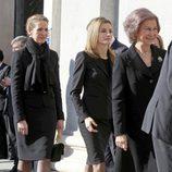 La Reina Sofía, la Princesa Letizia y la Infanta Elena en la misa homenaje en el 10 aniversario del 11M