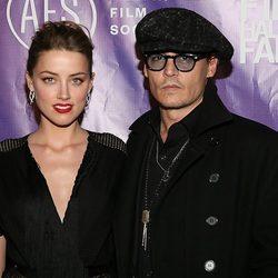 Johnny Depp y Amber Heard en los Texas Film Awards 2014