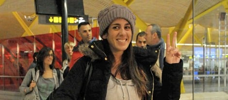 Anabel Pantoja antes de poner rumbo a Honduras para participar en 'Supervivientes'