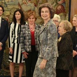 La Reina Sofía en una audiencia en La Zarzuela