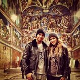 Lewis Hamilton y Nicole Scherzinger en la Capilla Sixtina