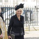 La Duquesa de Cornualles en una misa en memoria de David Frost