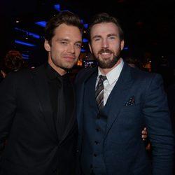 Sebastian Stan y Chris Evans en el estreno de 'Capitán América: El Soldado de Invierno'