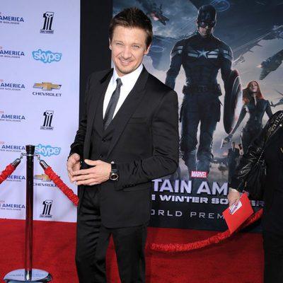Jeremy Renner en el estreno de 'Capitán América: El Soldado de Invierno'
