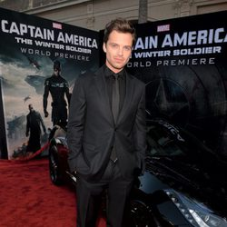 Sebastian Stan en el estreno de 'Capitán América: El Soldado de Invierno'