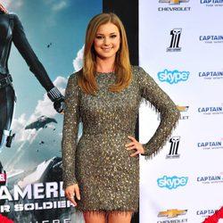 Emily VanCamp en el estreno de 'Capitán América: El Soldado de Invierno'