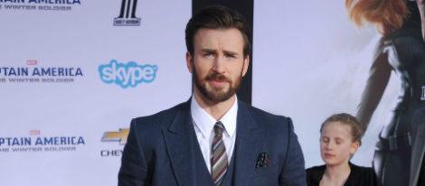 Chris Evans en el estreno de 'Capitán América: El Soldado de Invierno'