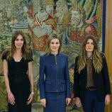 La Princesa Letizia en una audiencia a la revista Vogue España