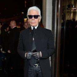 Karl Lagerfeld en la inauguración de su tienda en Londres