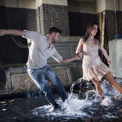 Ruth Lorenzo en el videoclip de 'Dancing In The Rain', canción de Eurovisión 2014