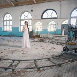 Ruth Lorenzo en la grabación del videoclip de 'Dancing in the rain', canción de Eurovisión 2014