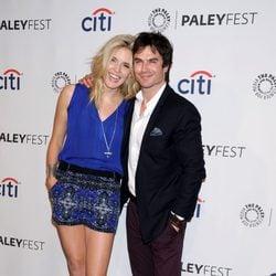 Ian Somerhalder y Maggie Grace en una fiesta de 'Perdidos' en la PaleyFest 2014