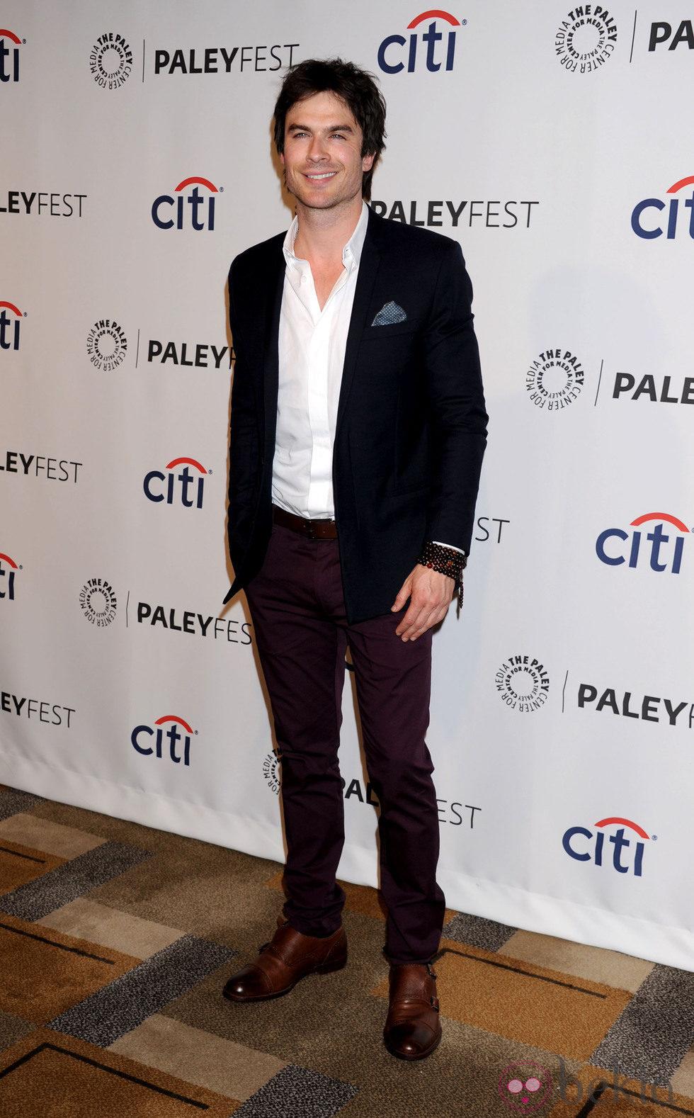 Ian Somerhalder en una fiesta de 'Perdidos' en la PaleyFest 2014