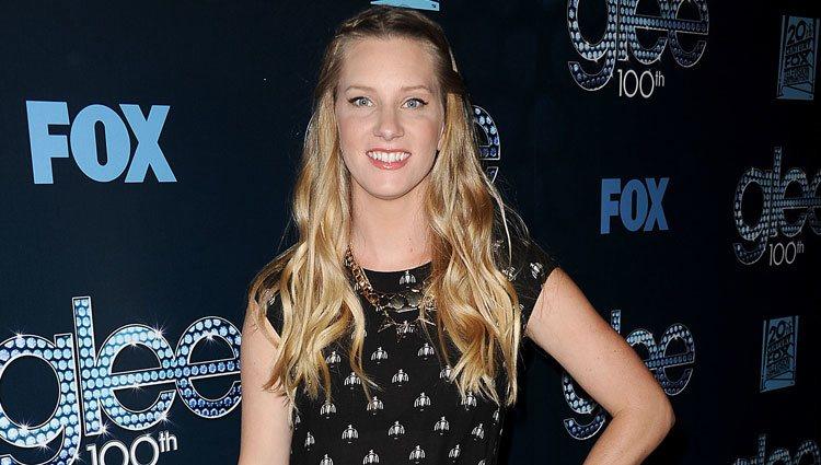 Heather Morris en la fiesta del episodio 100 de 'Glee'