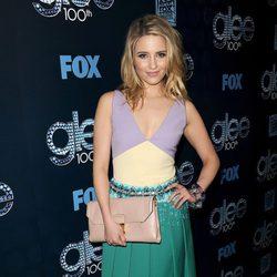 Dianna Agron en la fiesta del episodio 100 de 'Glee'
