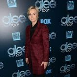 Jane Lynch en la fiesta del episodio 100 de 'Glee'