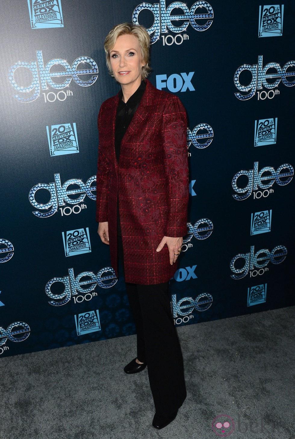 Jane Lynch en la fiesta del episodio 100 de 'Glee'