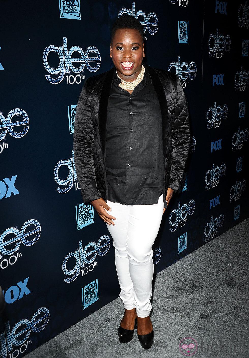 Alex Newell en la fiesta del episodio 100 de 'Glee'