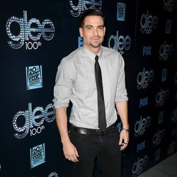 Mark Salling en la fiesta del episodio 100 de 'Glee'