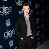 Chris Colfer en la fiesta del episodio 100 de 'Glee'