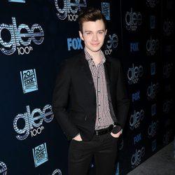 Chris Colfer en la fiesta del episodio 100 de 'Glee'