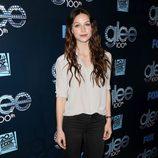 Melissa Benoist en la fiesta del episodio 100 de 'Glee'