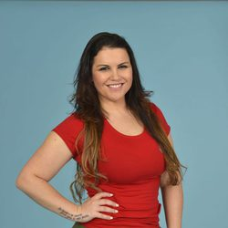 Katia Aveiro posando como concursante de 'Supervivientes 2014'