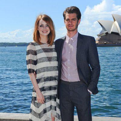 Emma Stone y Andrew Garfield en la promoción de 'The Amazing Spider-Man 2: El poder de Electro' en Sydney