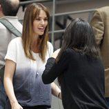 Helen Lindes en un partido del Real Madrid tras anunciar su boda