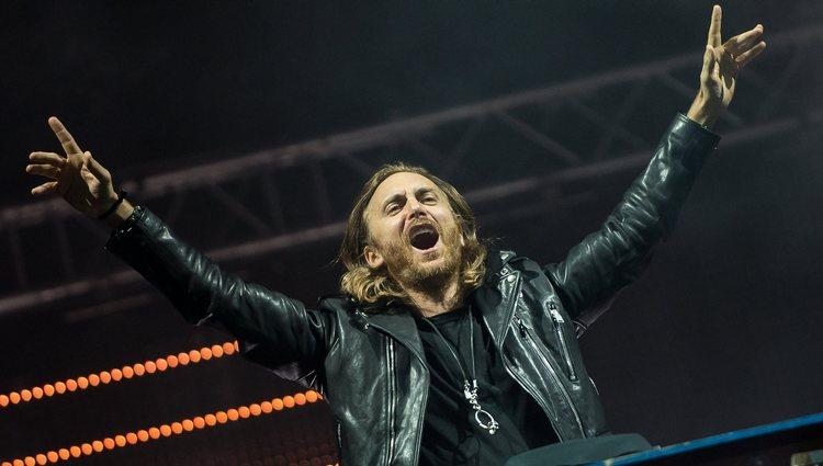 David Guetta durante su actuación en el Rock in Rio 2013