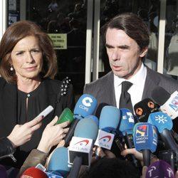 José María Aznar y Ana Botella en el velatorio de Adolfo Suárez
