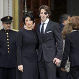 Juan José Padilla y su mujer Lidia Cabello en la capilla ardiente de Adolfo Suárez