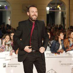 Antonio Molero en la entrega del Premio Málaga Sur 2014