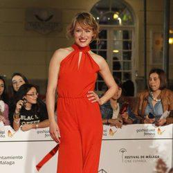 Marta Larralde en la entrega del Premio Málaga Sur 2014