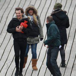 Louis Tonlinson durante el rodaje del nuevo video de One Direction