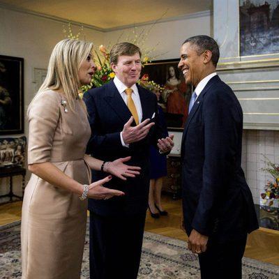 Los Reyes de Holanda con Barack Obama en La Haya