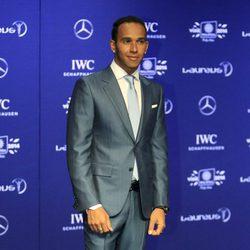 Lewis Hamilton en los Premios Laureus 2014