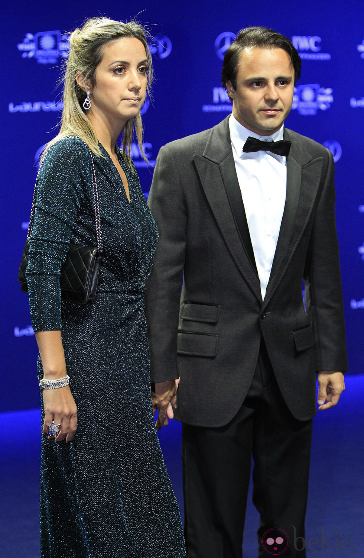 Felipe Massa y Anna Rafaela en los Premios Laureus 2014