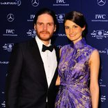 Daniel Brühl y Felicitas Rombold en los Premios Laureus 2014