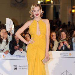 Ana de Armas en el estreno de 'Por un puñado de besos' en el Festival de Málaga 2014