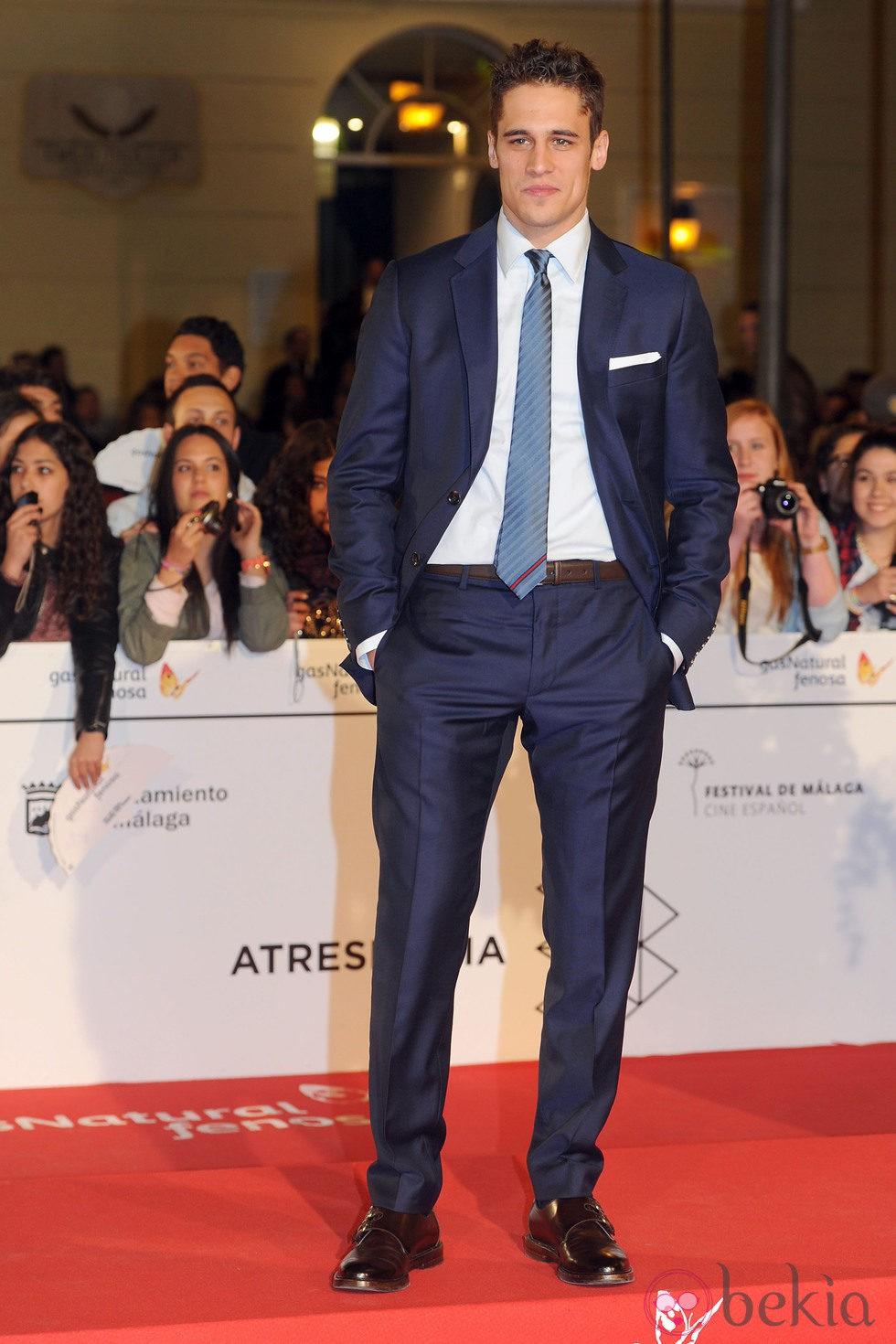 Martiño Rivas en el estreno de 'Por un puñado de besos' en el Festival de Málaga 2014