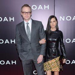 Paul Bettany y Jennifer Connelly en el estreno de 'Noé' en Nueva York