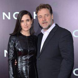 Jennifer Connelly y Russell Crowe en el estreno de 'Noé' en Nueva York