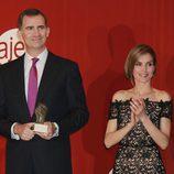 Los Príncipes de Asturias en la entrega del Premio Nacional Joven Empresario