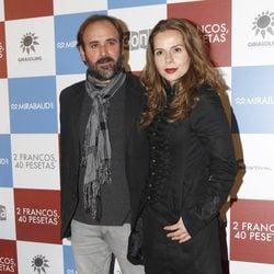 Paco Martín y Miryam Gallego en el estreno de '2 francos, 40 pesetas'