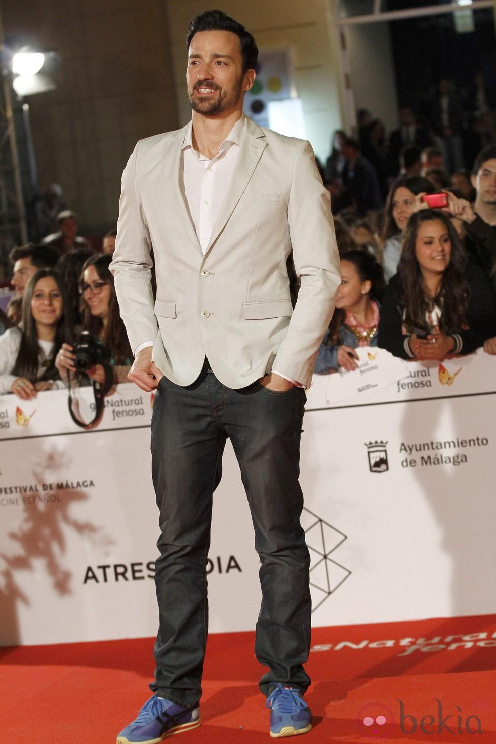 Pablo Puyol en el estreno de 'Todos están muertos' en el Festival de Málaga 2014