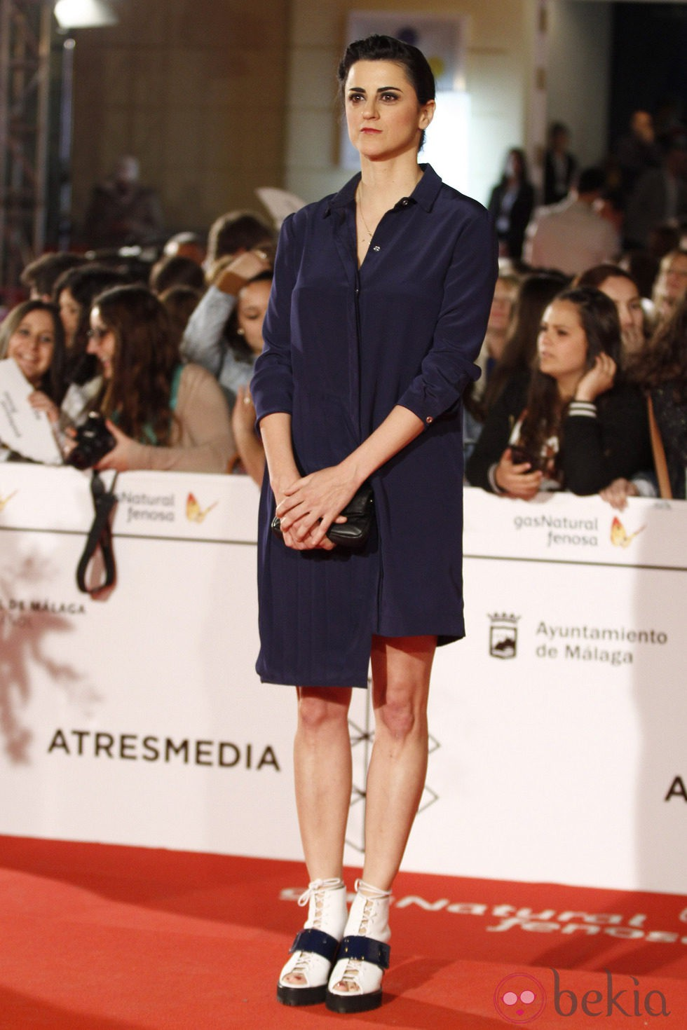 Beatriz Sanchís en el estreno de 'Todos están muertos' en el Festival de Málaga 2014