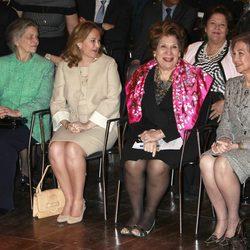 La Princesa Irene y la Reina Sofía junto a las princesas jordanas en la inauguración de una exposición