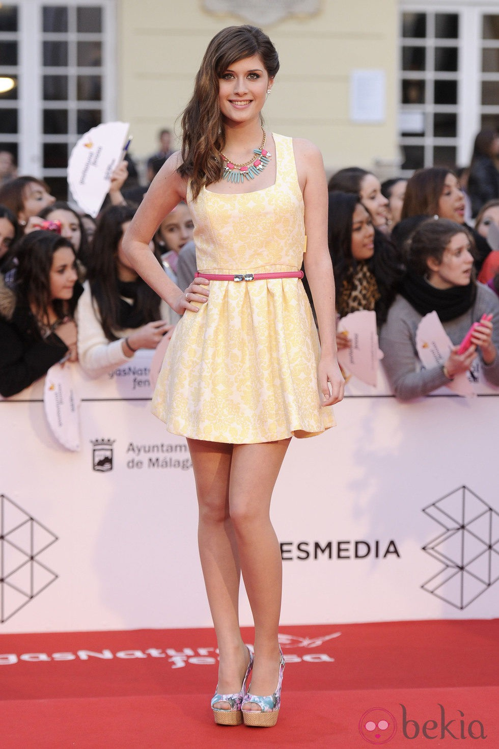 Nerea Camacho en la gala de clausura del Festival de Málaga 2014